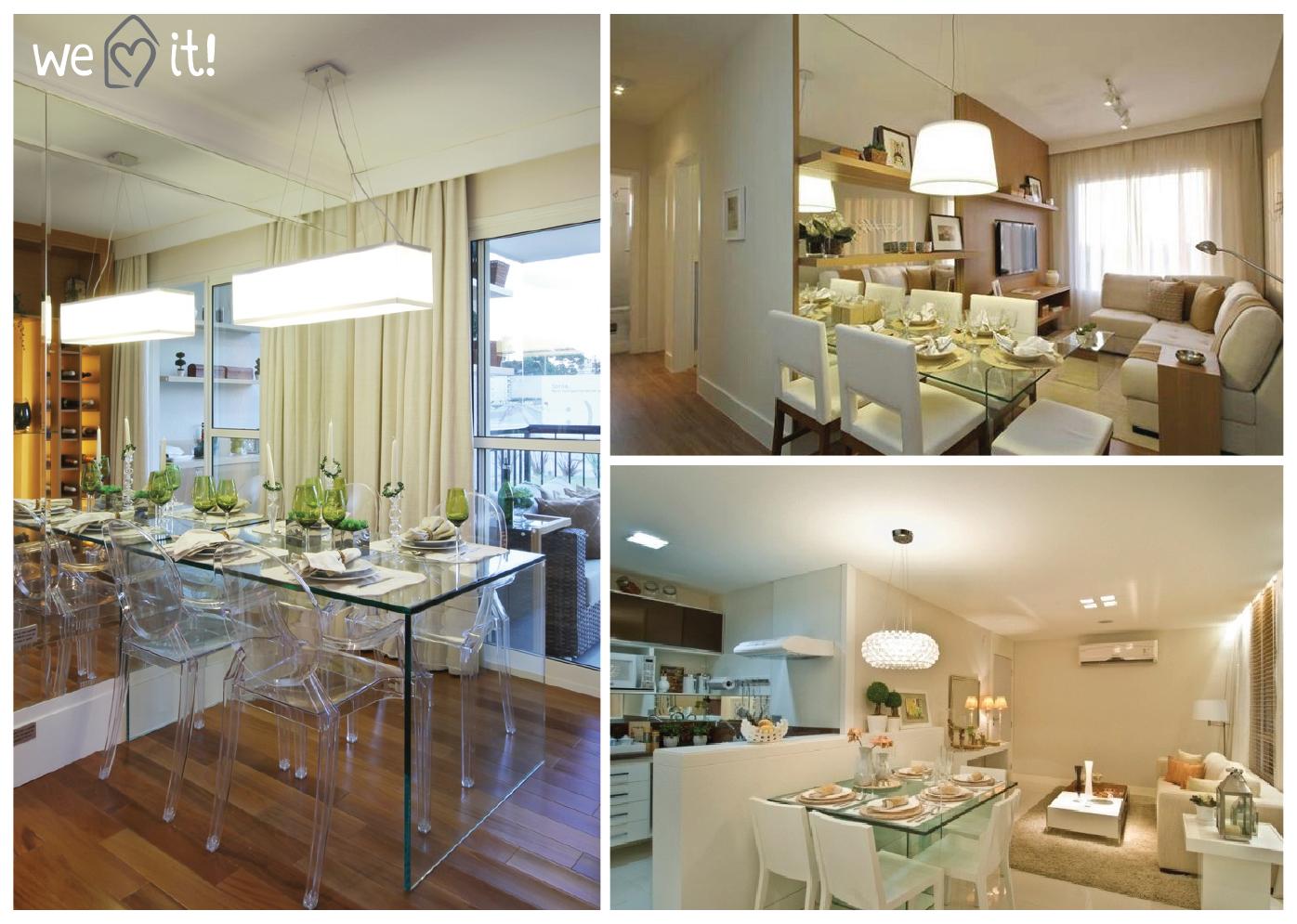 Casa das amigas tudo integrado dicas apartamentos pequenos for Ambientes interiores de casas