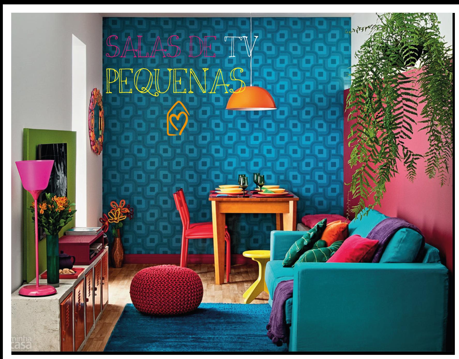 Sala Pequena Na Cor Azul ~ Casa das Amigas Dicas salas de TV pequenas!  Casa das Amigas