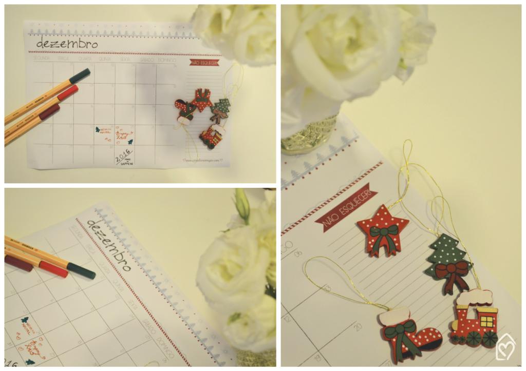 planejamento de dezembro em clima de natal