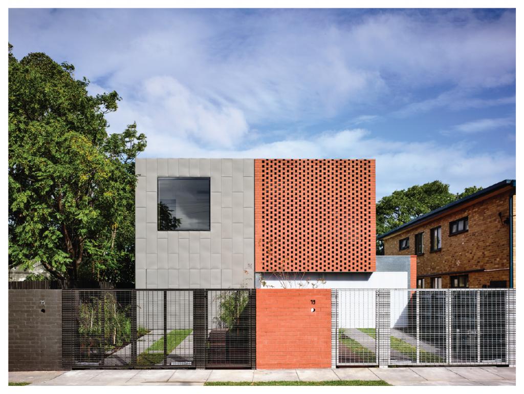 Casa minimalista na Austrália, com tijolinho.