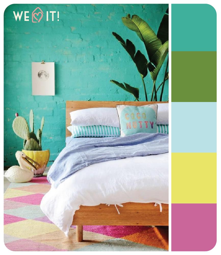 Um quarto lindo e cheio de cores pra inspirar e trazer vida pra esse diz cinza. We love it!