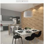 Cozinha preta + tijolinho | CDA projetos
