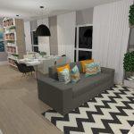 Sala moderna e colorida | CDA Projetos