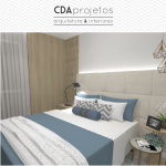 Quarto moderno com toques de cor | CDA Projetos