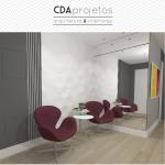 Sala em tons de cinza | CDA Projetos