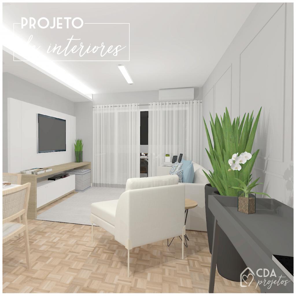 Uma sala perfeita para receber os amigos e família.